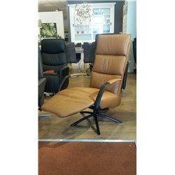 Relax fauteuil Dixon leder cognac hand bediend