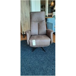 Relax fauteuil Tom micro leder hand bediend