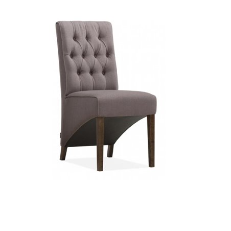 victor eetkamer stoel kleur taupe gecapitonneerd