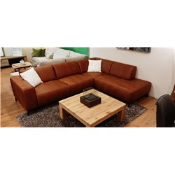 Lounge bank bergamo 275x210 micro leder cognac of antraciet