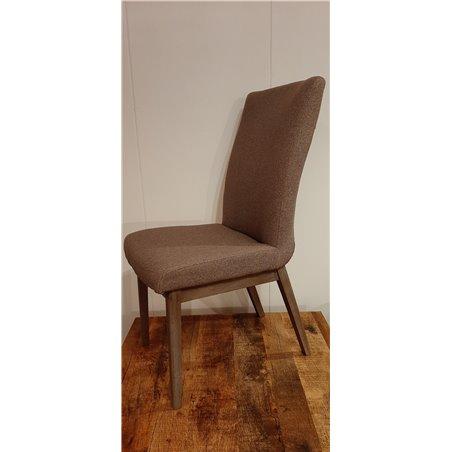 4 x Sofie stoel roswell vlas stof grey houten poot