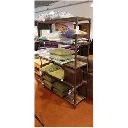 Indi boekenkast industrieel 120cm oud hout