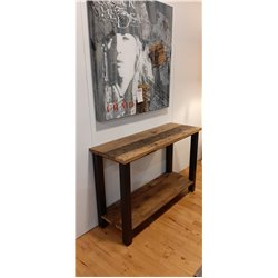 Sidetable old wood 120 cm industrieel