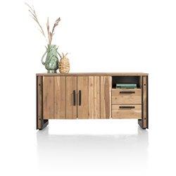 Makalu, dressoir 160 cm - 2-deuren + 2-laden + 1-niche