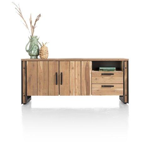 Makalu, dressoir 190 cm - 2-deuren + 2-laden + 1-niche