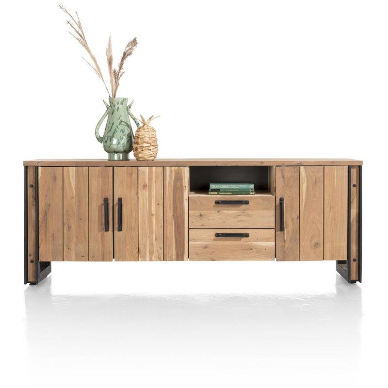 Makalu, dressoir 220 cm - 3-deuren + 2-laden + 1-niche