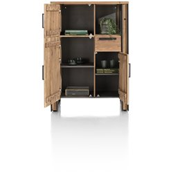 Makalu, highboard 100 cm - 3-deuren + 1-lade + 1-niche